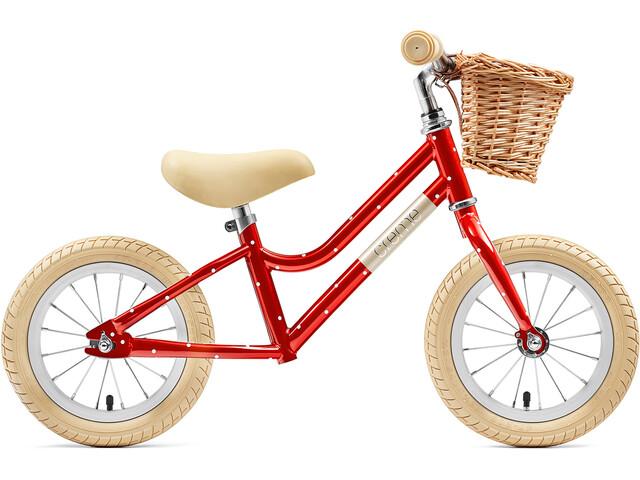 "Creme Mia Løbecykel 12"" Børn, red polka"